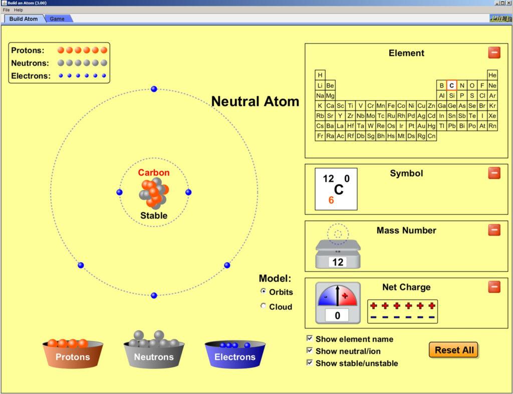 Phet Bilder Und Logos In Phet Build An Atom Worksheet