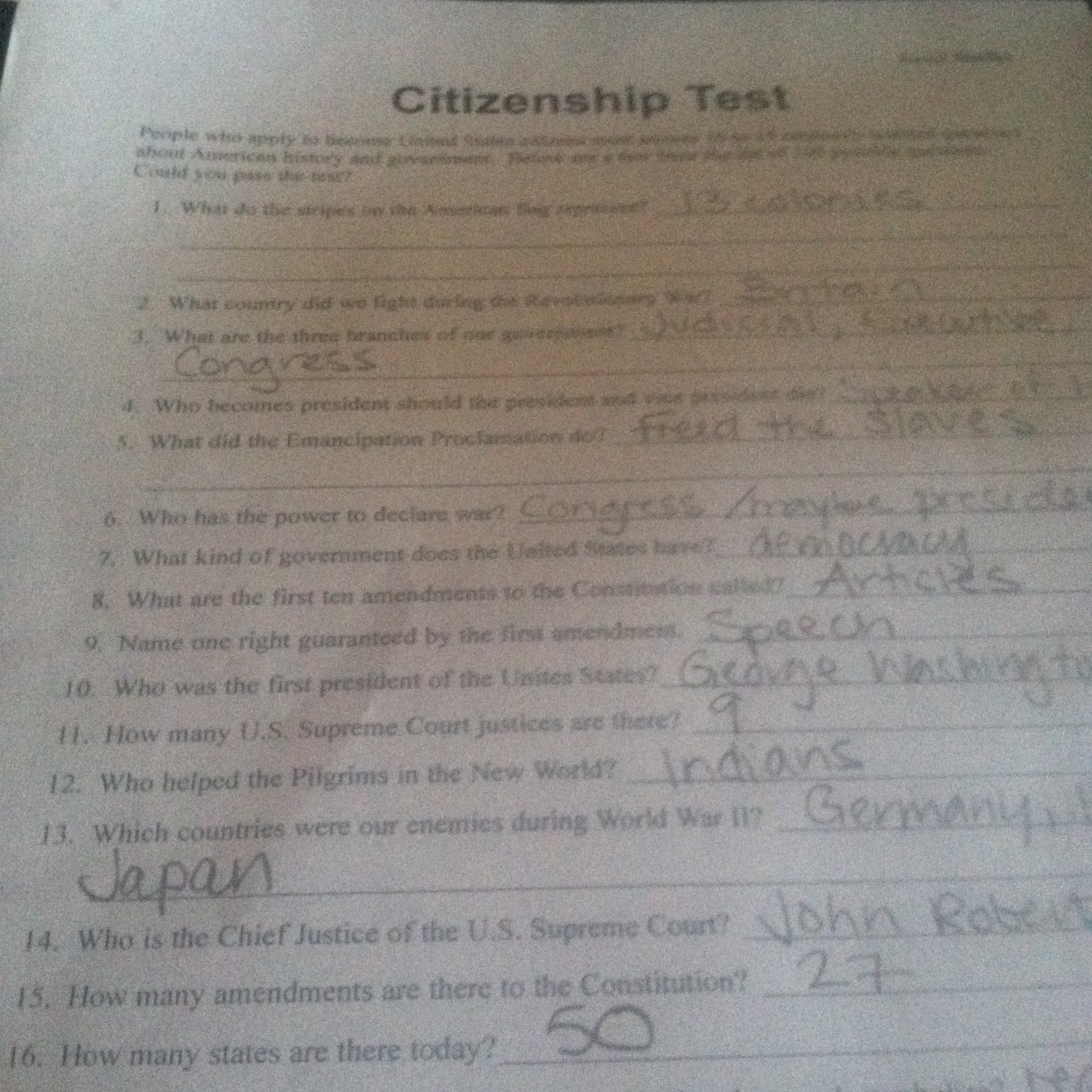 Citizenship In The Nation Worksheet Answers