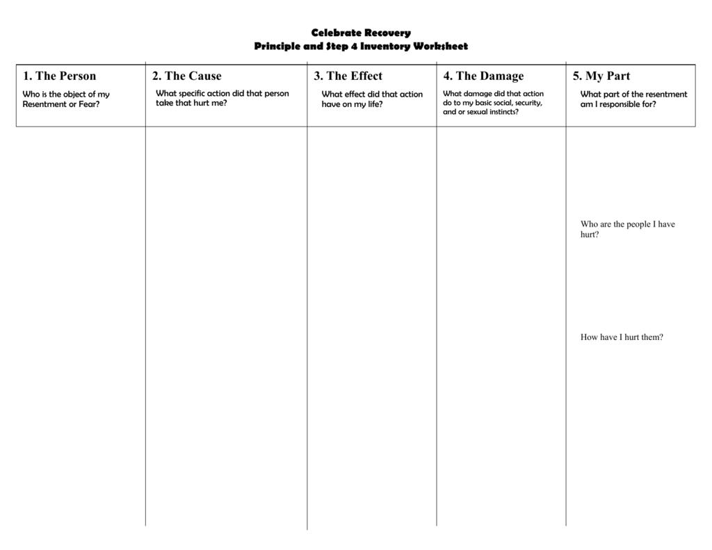 Step 4 Worksheet