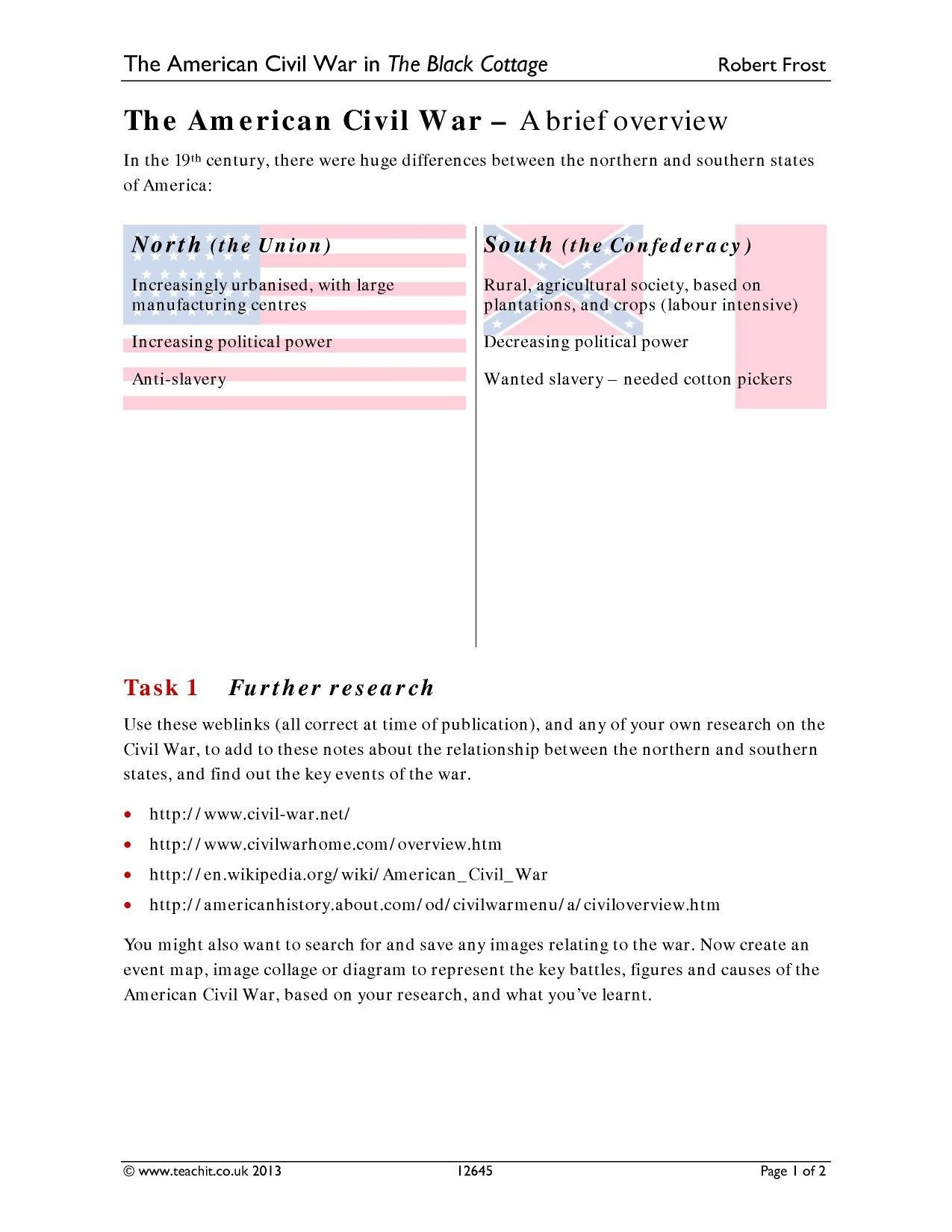 The Road To The Civil War Worksheet Answers