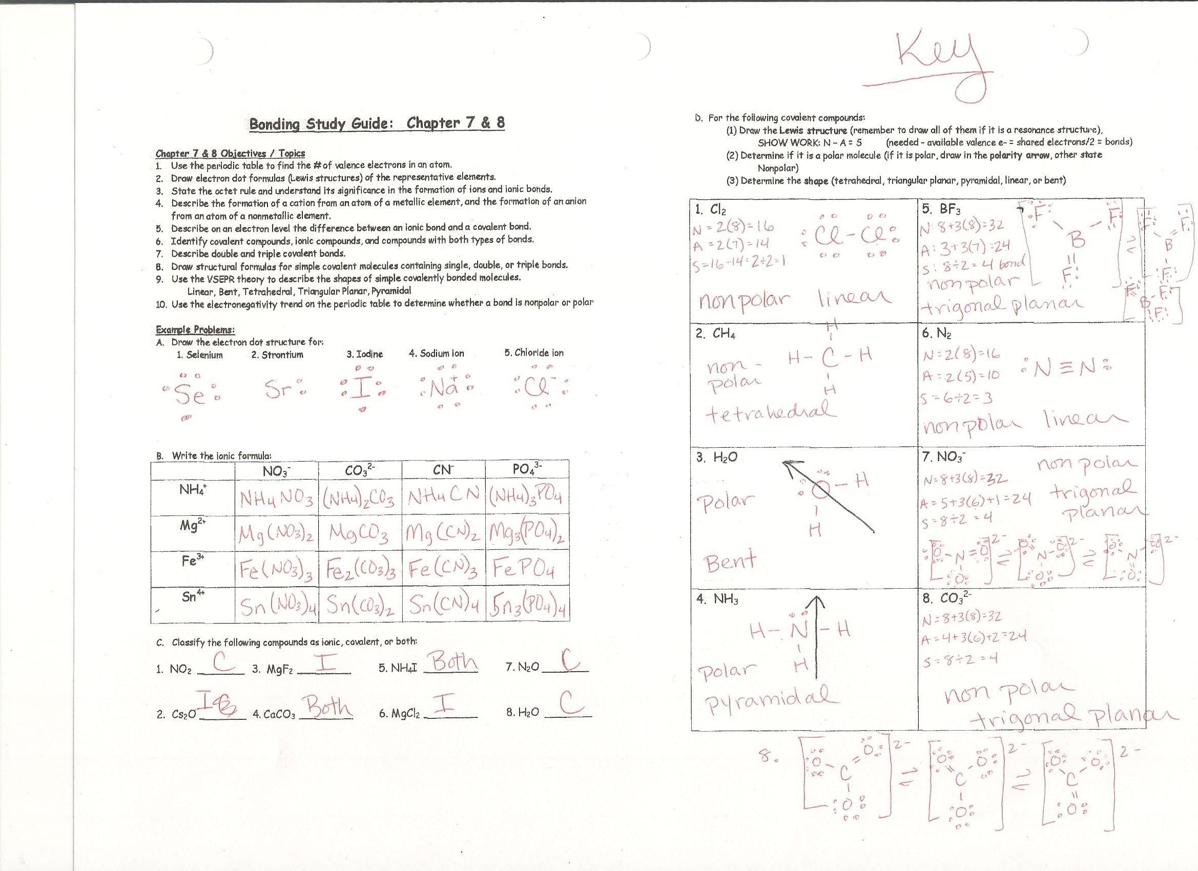 Writing Formulas Ionic Compounds Chem Worksheet 8 3 Answer