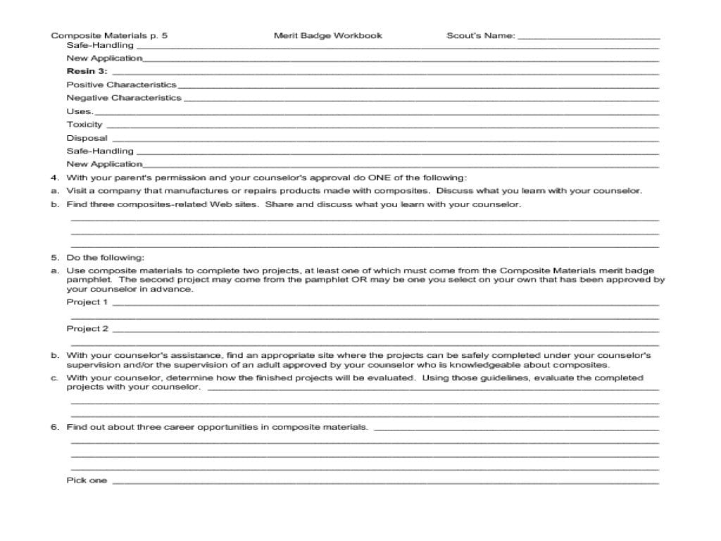 Communications Merit Badge Worksheet