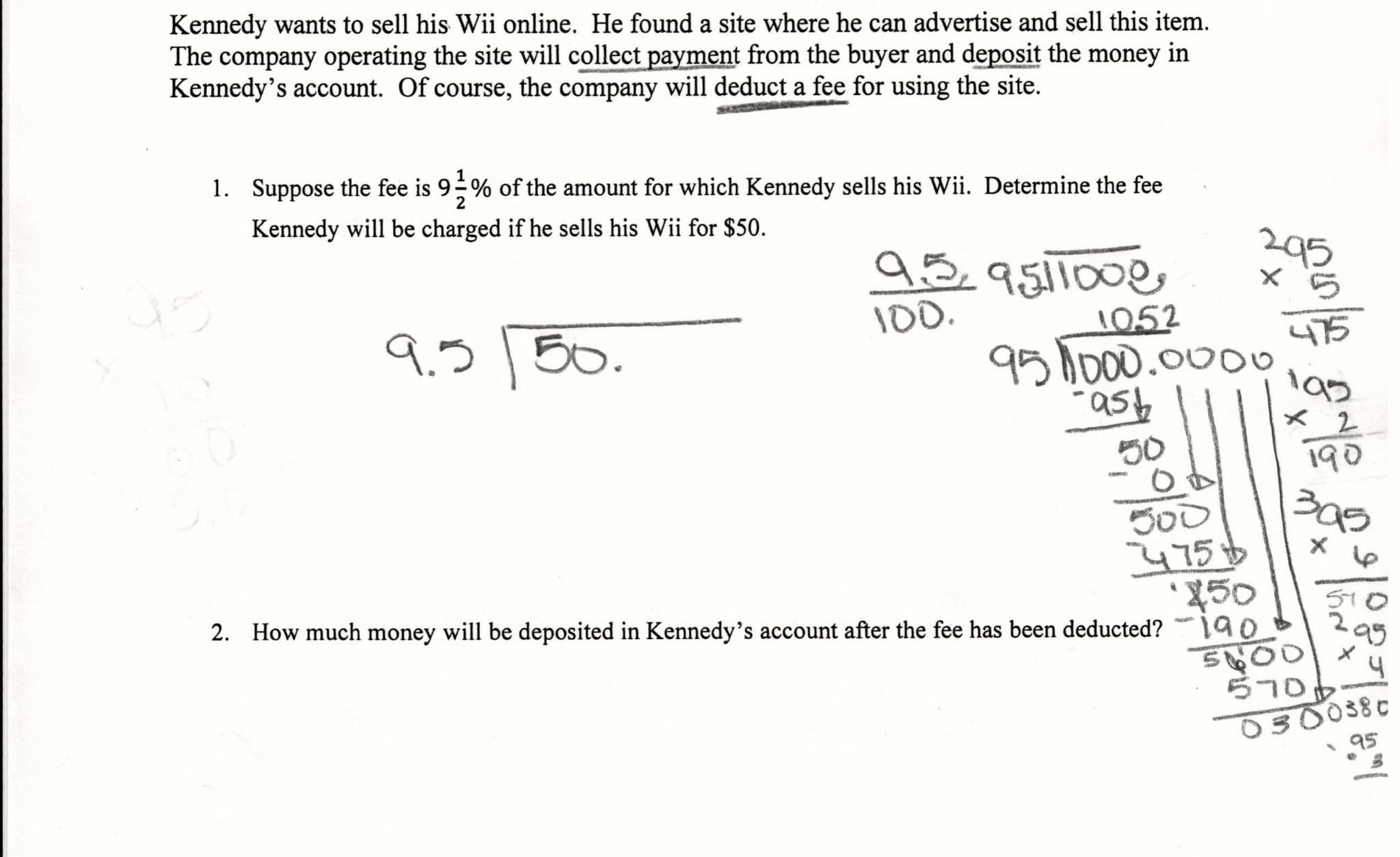 Markups And Markdowns Word Problems Matching Worksheet