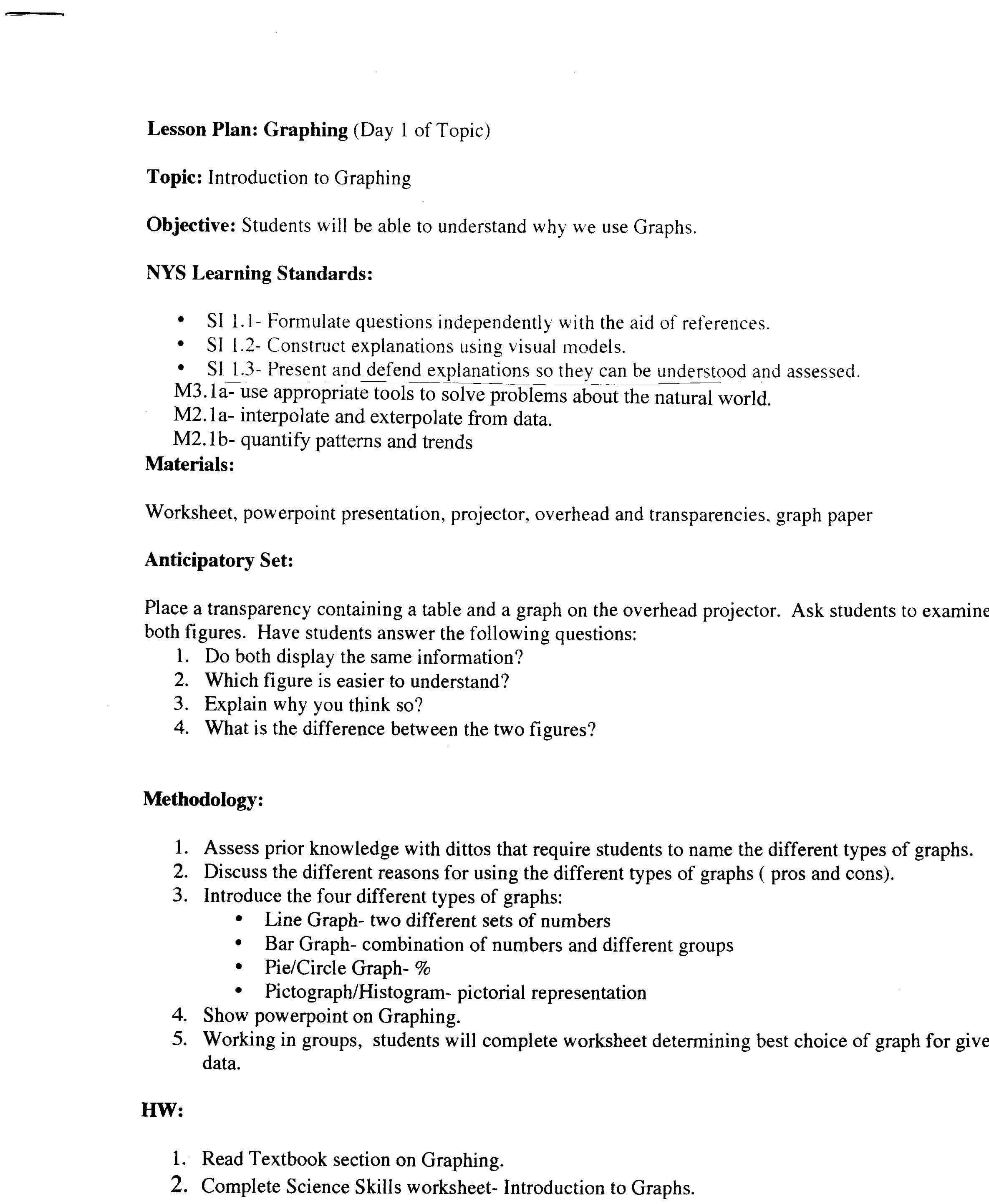 Science Skills Worksheet