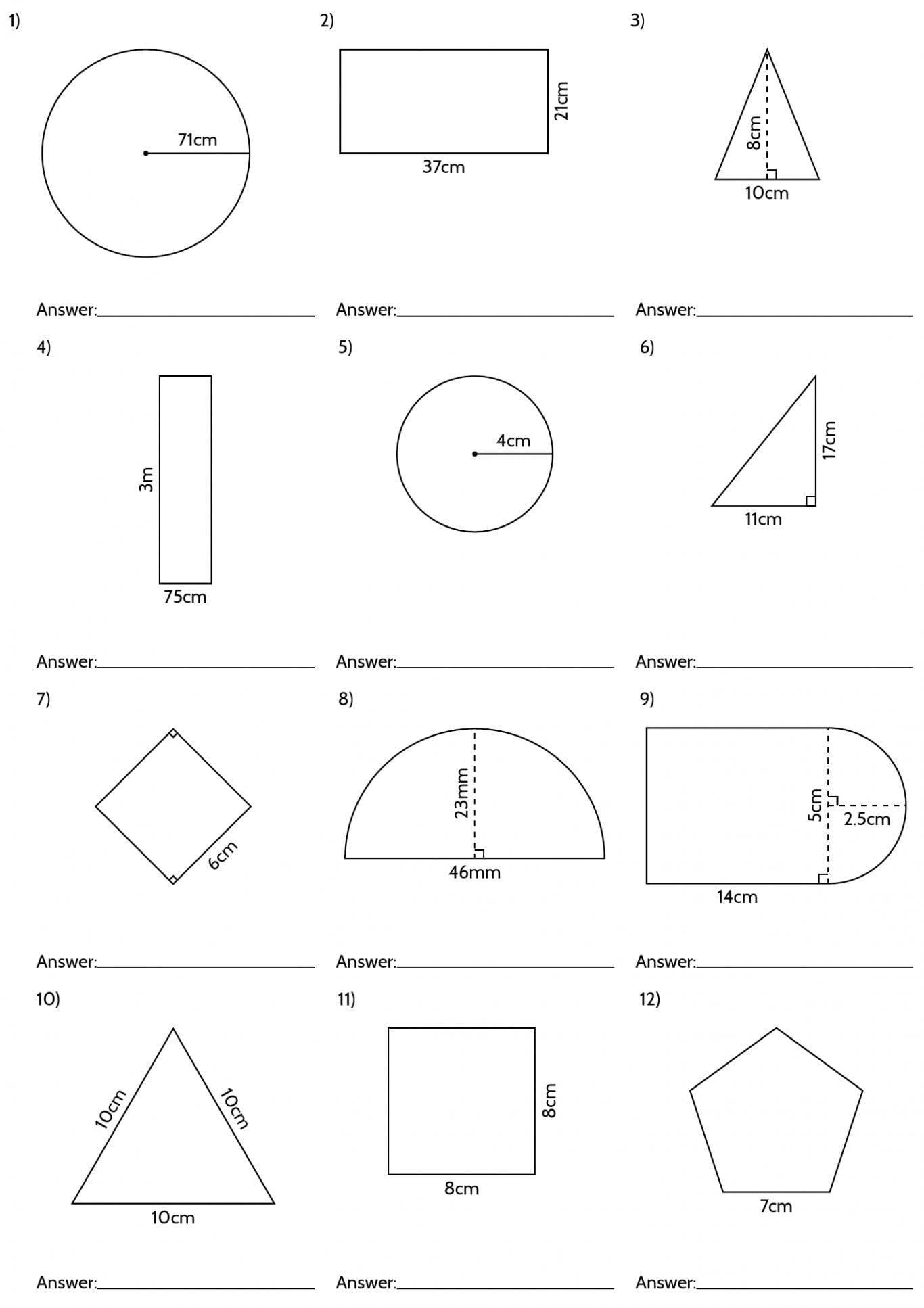 8th Grade Geometry Worksheets