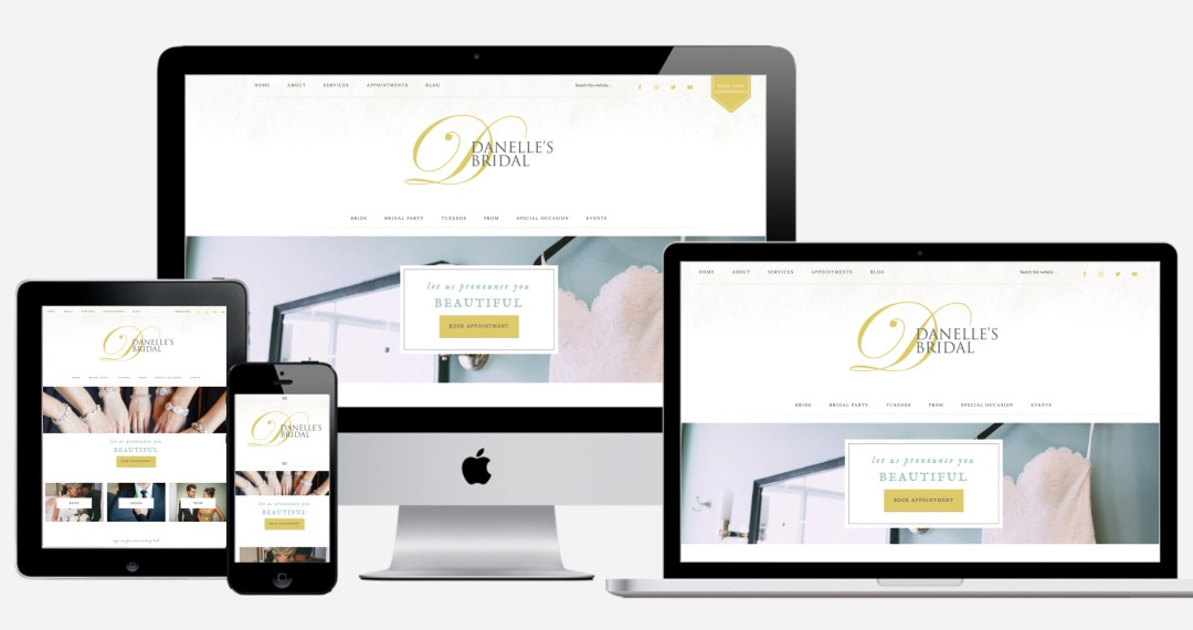 DBBwebsite - Bridal Boutique Website Design