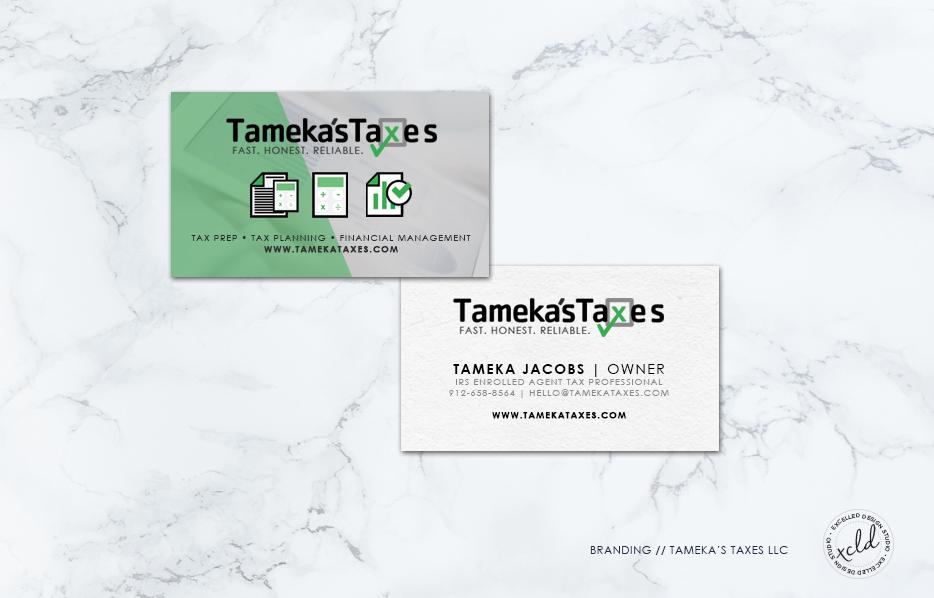 Tameka BizCards - Tameka's Taxes
