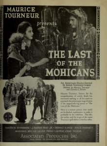 The Last of the Mohicans 1920 film playbill