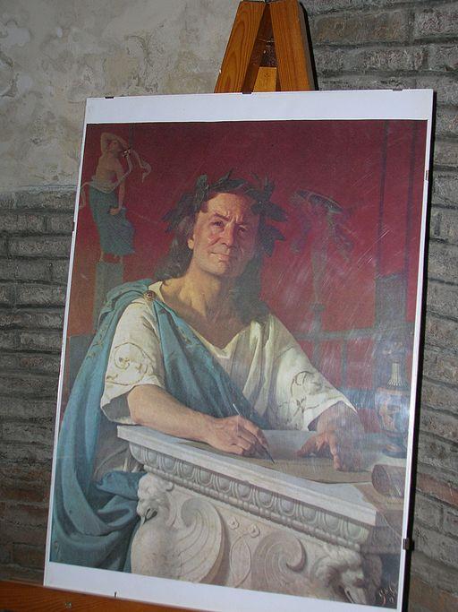 Portrait of Horace, author of Satire I.