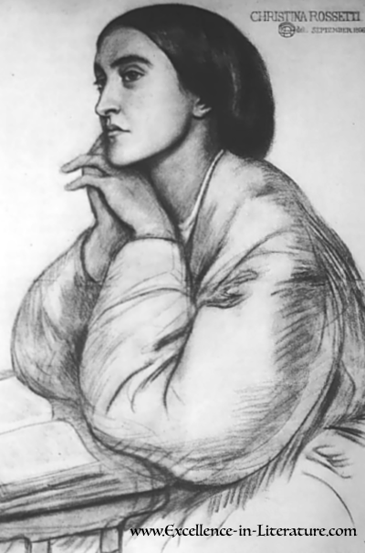 """Christina Rossetti was an English poet best known for """"In the Bleak Midwinter"""" and """"Goblin Market."""""""