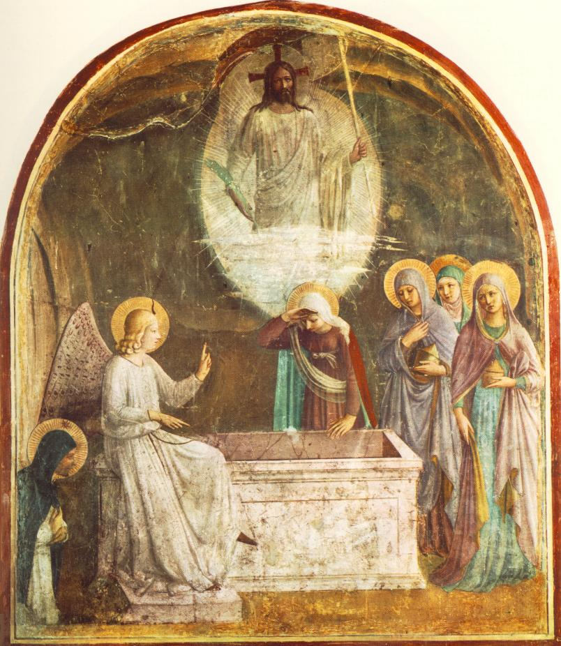 Fresco of the Resurrection of Christ and Women at the Tomb