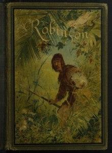 Robinson Crusoe by Daniel Defoe cover from Portugal, 1884