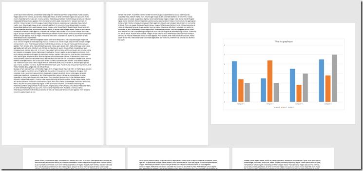 Page au format paysage dans un document Word