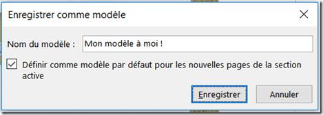 Nom du modèle de page - OneNote