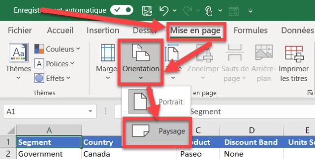 Zone impression Excel - Plusieurs feuilles changement orientation