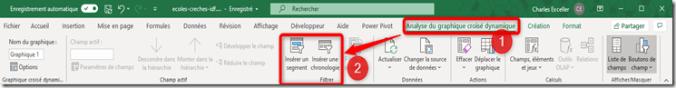 Excel - GCD - Segments et Chronologie