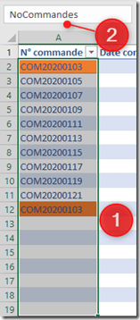 Excel - MFC - Donner un nom