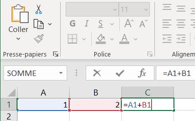Apprendre Excel - Premiers pas