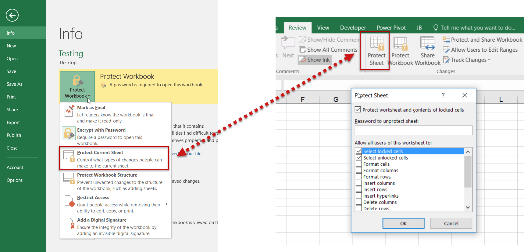 How To Secure Or Protect Your Excel File Excellimus