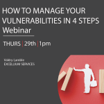 """How to Manage your vulnerabilties in 4 steps - banner for """"Where to meet us """" page"""