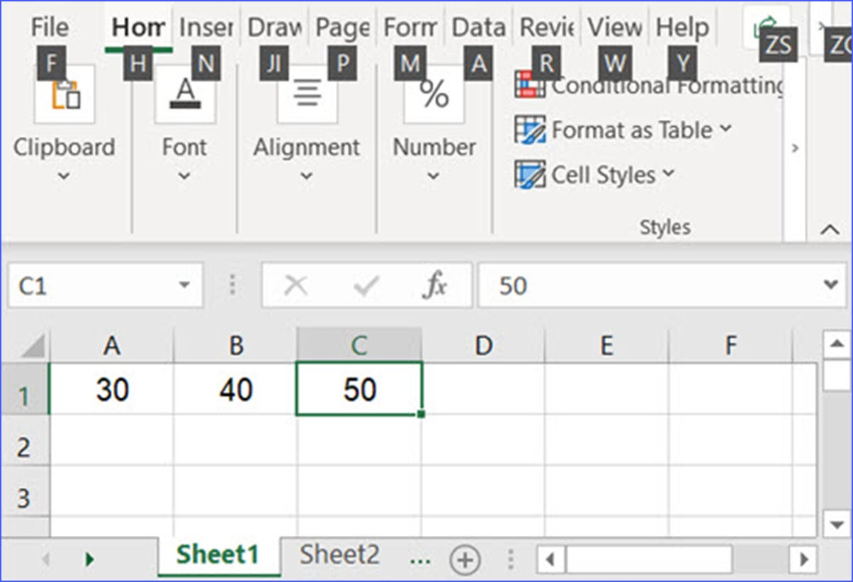 Shift F6 Switch Between Worksheet And Zoom Controls
