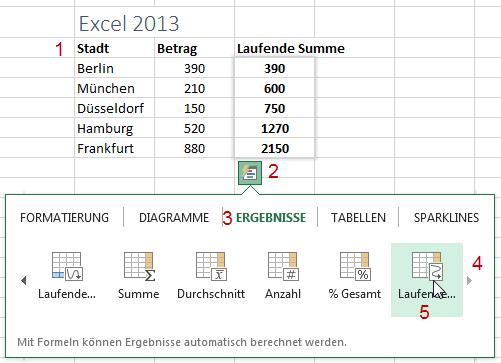 Wie Man Fortlaufende Summen Erstellt In Excel Excelnova