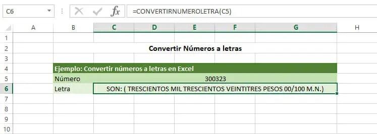 Función para convertir números a letras