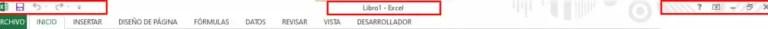 Barra de títulos en Excel