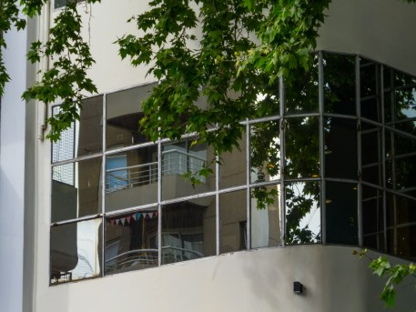 windows in a commercial building