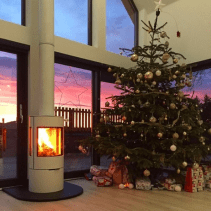 Wood-burning stoves. Magical at Christmas.