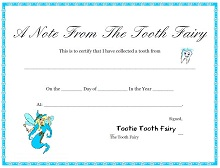 Tooth Fairy Certificate Templates