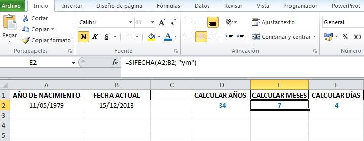 Calcular Años Entre Dos Fechas En Excel Excel Signum