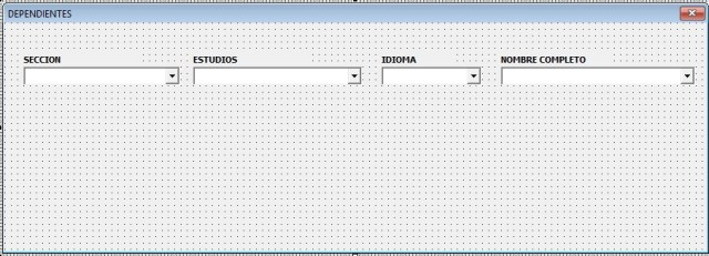 COMBOBOX DEPENDIENTES EN USERFORM CON SQL2