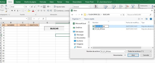 UTILIZAR CUADRO DE DIALOGO PARA SELECCIONAR ARCHIVO Y BUSCARV3