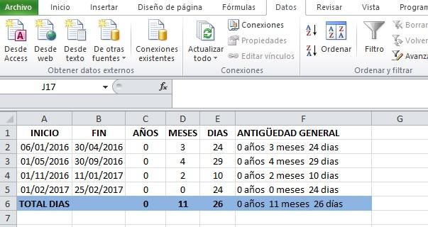 Calcular Días Meses Y Años Entre Dos Fechas Y Diferentes Periodos Excel Signum