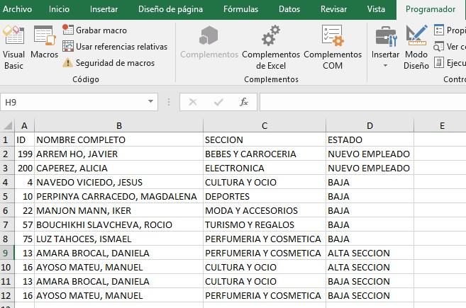 CRUZAR DOS TABLAS EN EXCEL USANDO SQL