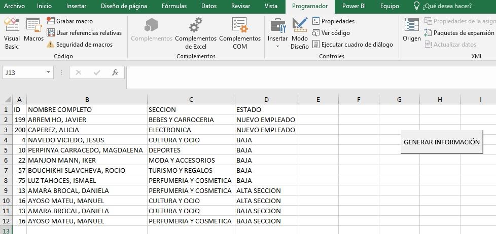 REALIZAR VARIAS CONSULTAS SQL EN LA MISMA MACRO CON ADO