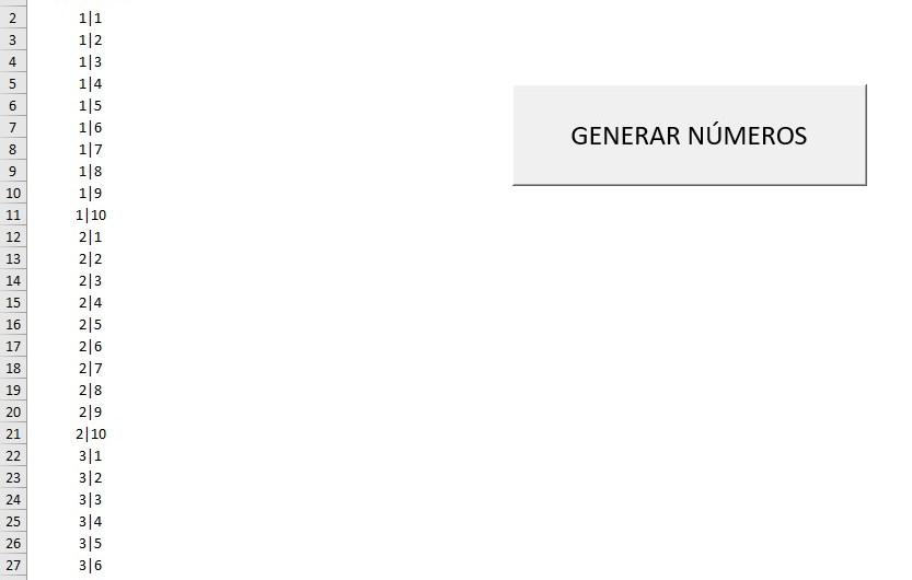 BUCLES ANIDADOS. GENERAR SERIES NUMÉRICAS