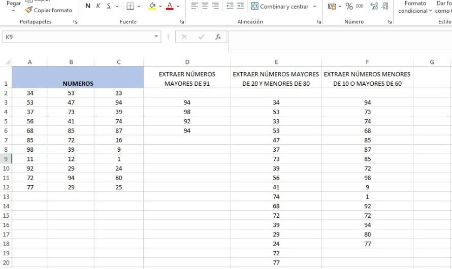 INTRODUCIR OPERADORES EN UDF. FUNCIÓN EXTRAE_RANGO_NUM