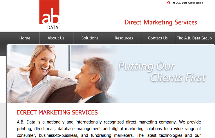 A.B. Data DMS Website