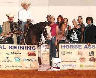 Scott McCutcheon winning a horseback riding competition