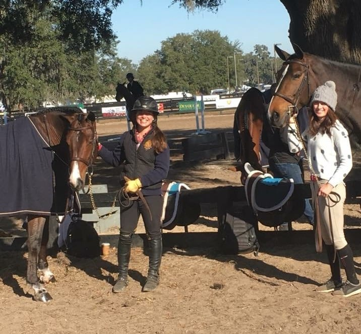 Nicole Mandracchia with Brown Horse