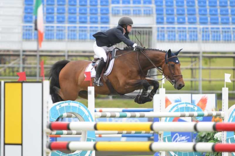 Sponsored Rider Emma Show jumper on an Excel Supplements Performance Horse