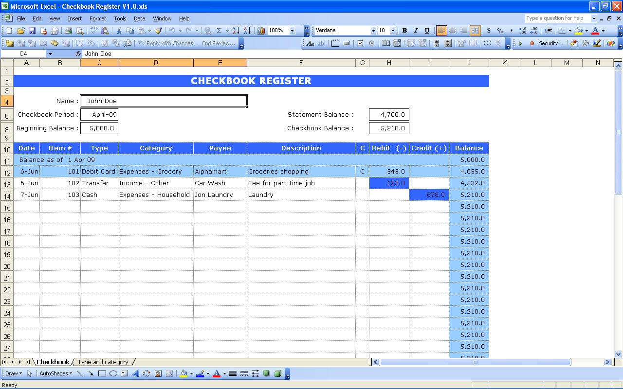 Very Popular Images Check Book Register For Excel