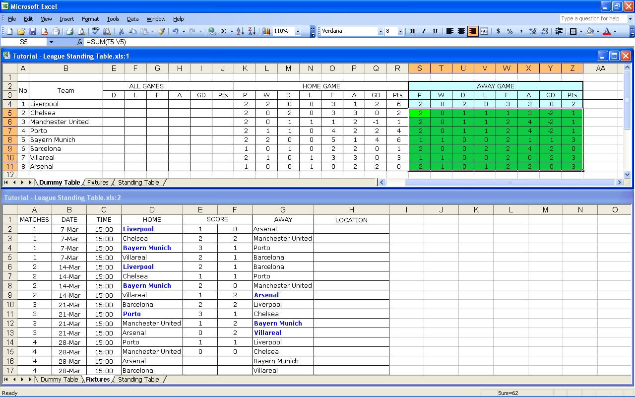 Create Your Own Soccer League Fixtures And Table