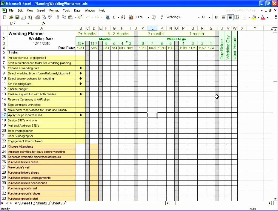 6 Event Planning Checklist Template Excel