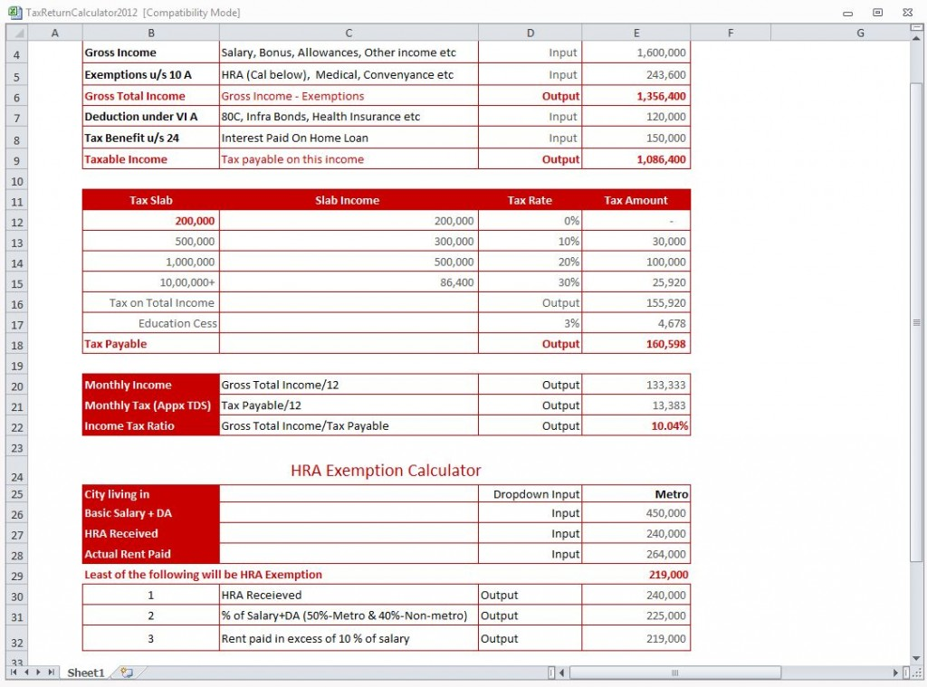 how to calculate estimated tax return