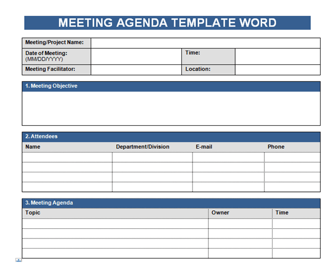 Meetings can consume large portions of a work day, and oftentimes at their conclusion the attendees are not entirely sure of the point of the meeting, the action items , or if any progress was made. Get Meeting Agenda Template In Word Microsoft Excel Templates