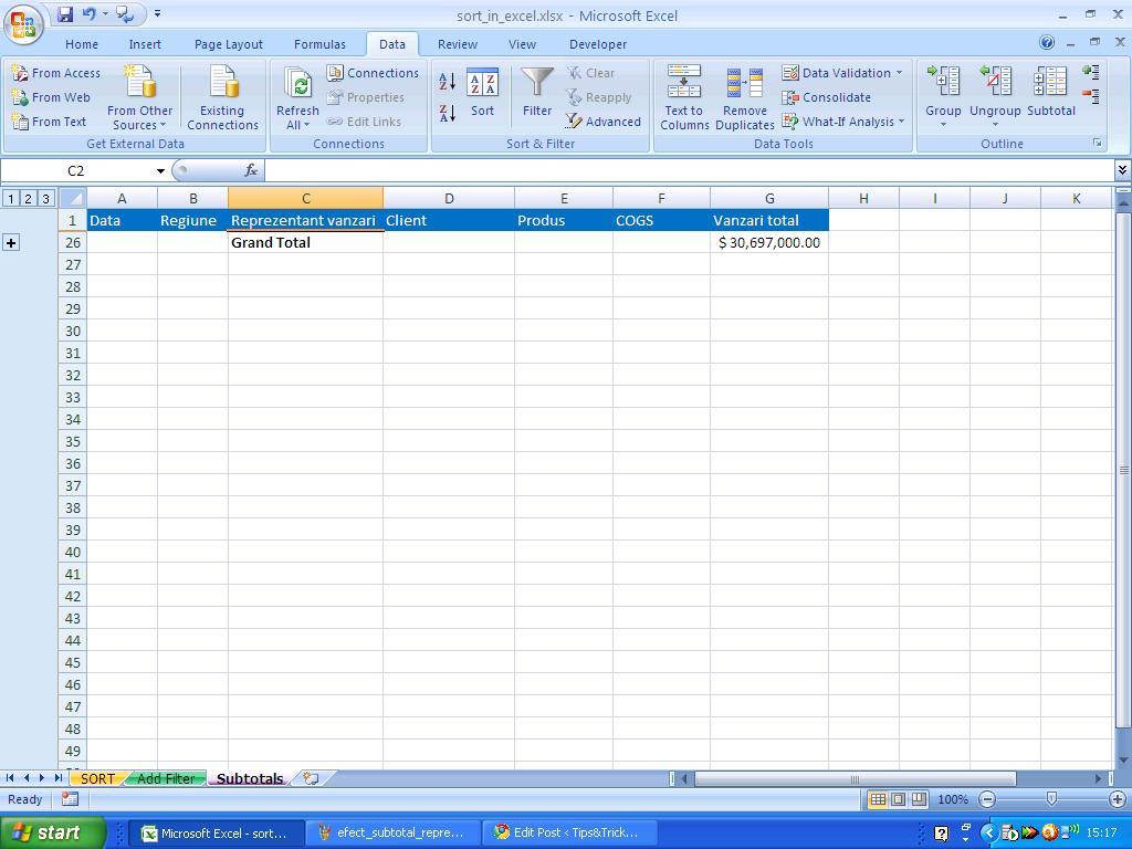 Dataysis Advanced Excel