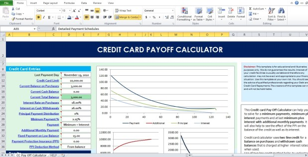 credit card payoff calculator amortization howtoviews co